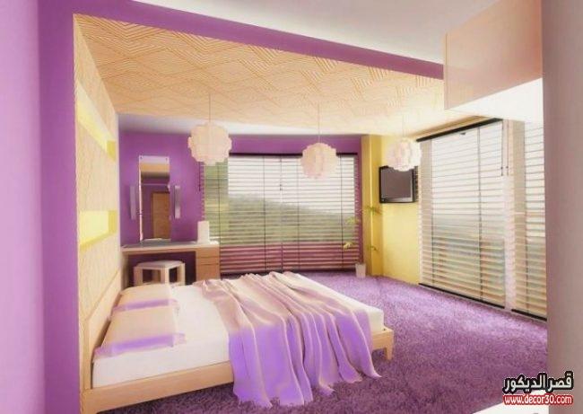 تصاميم دهانات حديثة لغرف النوم