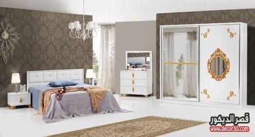 صور غرفة نوم صيني ابيض