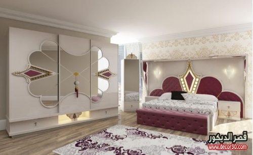 ديكورات غرف مودرن للعرسان كتالوج احدث 100 تصميم اوض كاملة قصر الديكور
