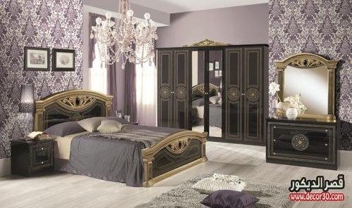 صور غرف نوم كاملة بالدولاب والتسريحة مودرن