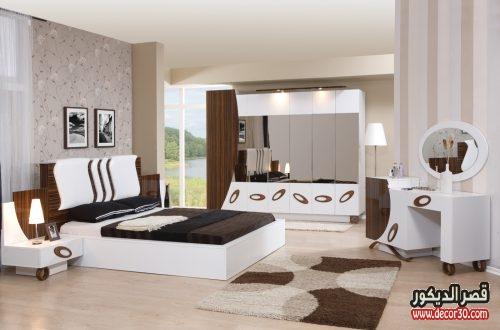 صور غرف نوم كاملة بالدولاب والتسريحة