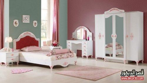 صور غرف نوم للبنات كاملة