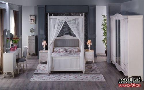 صور غرف نوم مودرن كاملة بالدولاب