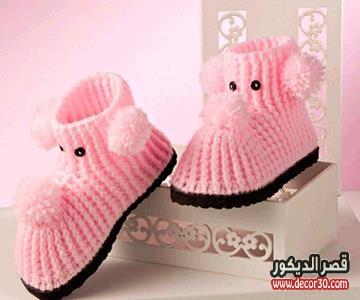 طريقة عمل حذاء بيبي بالكروشيه للاطفال