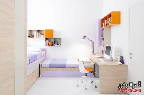 غرف اطفال مودرن 2 سرير