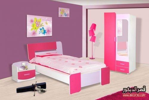 غرف نوم اطفال بنات موف وبينك