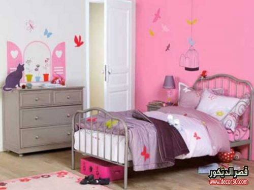 رسومات جدران غرف نوم اطفال بنات