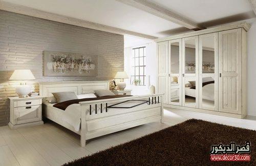 اشكال غرف نوم كاملة بالدولاب جرار 2018 قصر الديكور