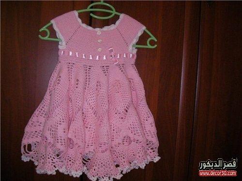 فستان كروشية بسيط