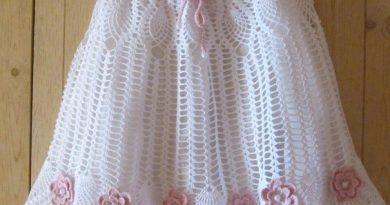 فستان كروشية للبنات
