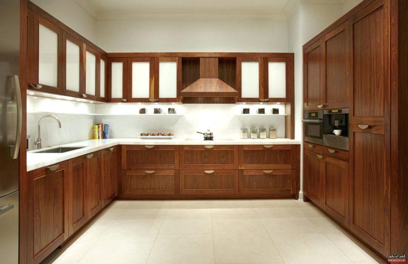 مطابخ الوميتال بني 50 تصميم مودرن جديد للمطابخ قصر الديكور