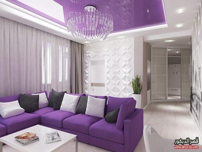 ديكورات غرف معيشة موف 2018