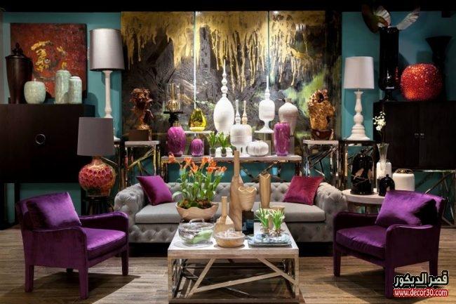غرف معيشة باللون البنفسجي كتالوج غرف معيشة باللون البنفسجي