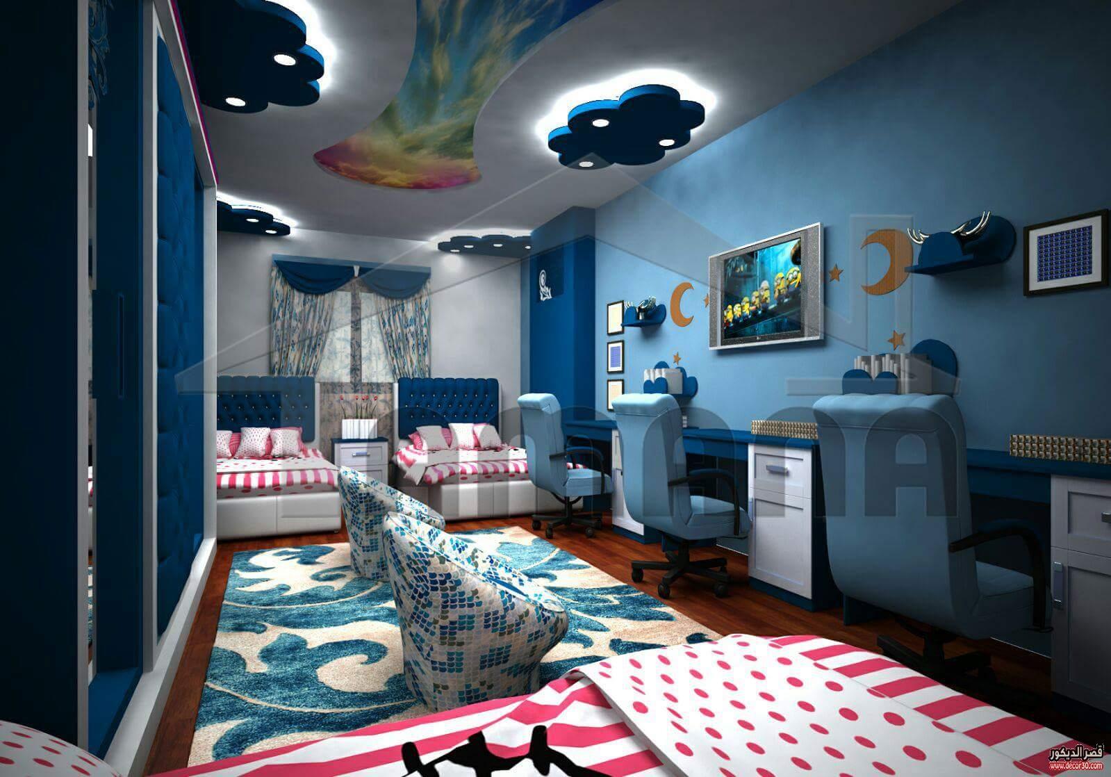 اوض نوم اطفال اولاد مودرن كاملة غرف نوم اولاد شباب قصر الديكور