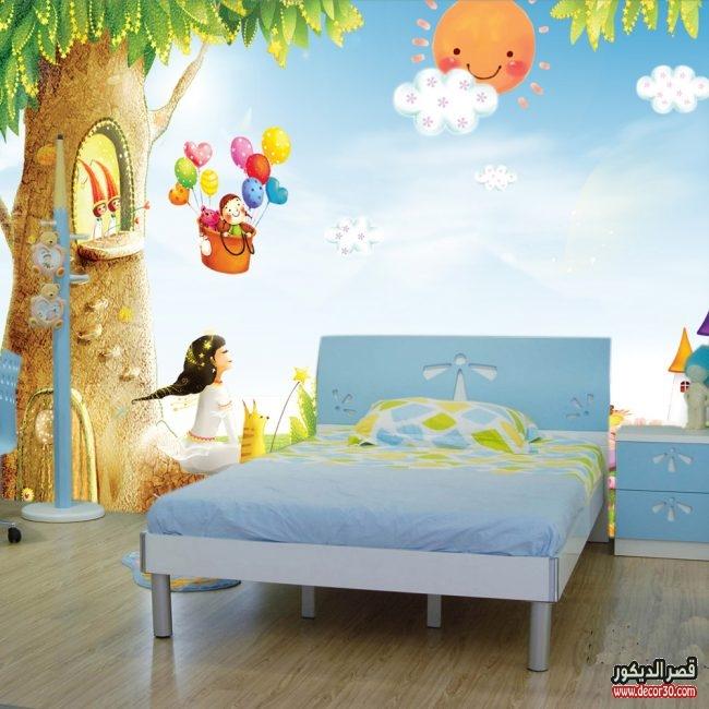 اشكال ورق حائط ثلاثي الابعاد لغرف الاطفال