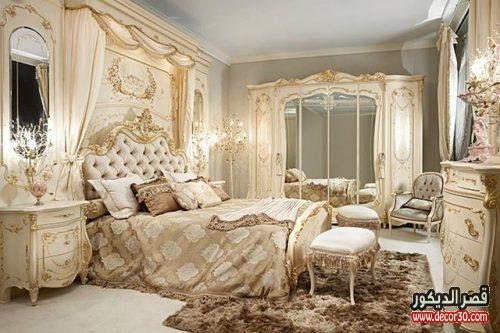 اشكال غرف نوم مدهب