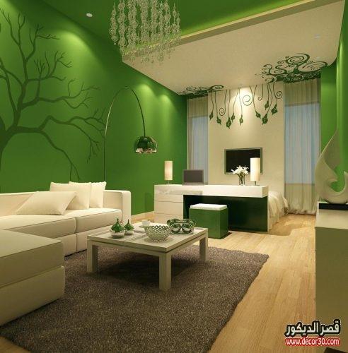 الوان دهانات حوائط اخضر