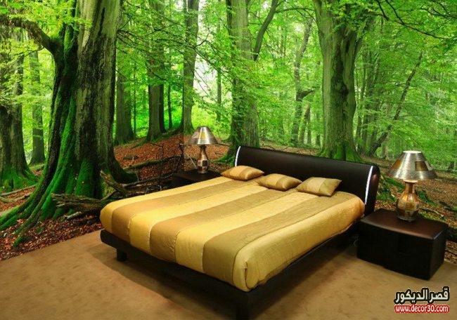 تصاميم ورق حوائط اوض نوم