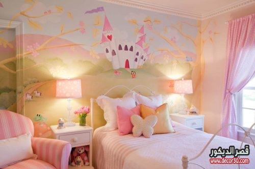 دهان غرف نوم اطفال للبنات