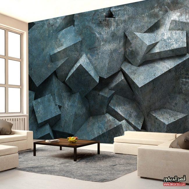 الوان ورق جدران ثلاثي الابعاد جديدة