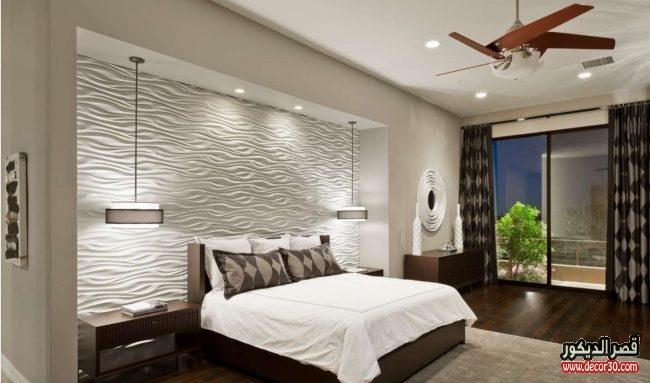 ورق جدران غرف نوم اليك نصائح قبل الاختيار واسعاره   قصر الديكور