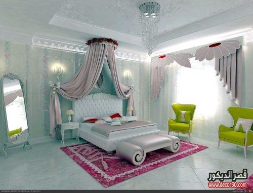 ستائر غرف النوم للعرائس فخمة