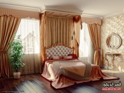 ستائر غرف نوم كلاسيك بسيطة