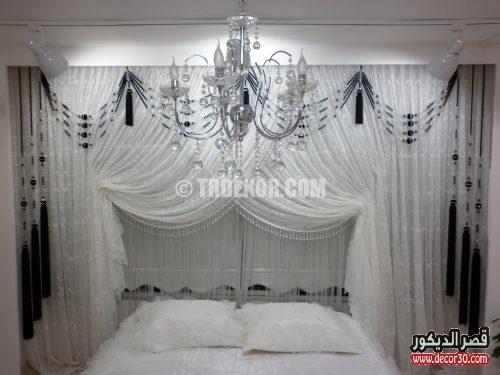 ستائر غرف نوم للعرسان فخمة