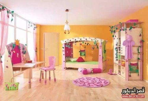 صور دهانات غرف نوم اطفال بنات