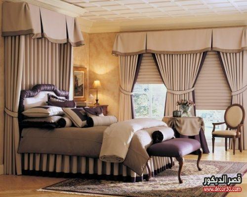 موديلات الستائر لغرف النوم