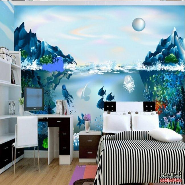 ورق حائط مجسم لغرف الاطفال