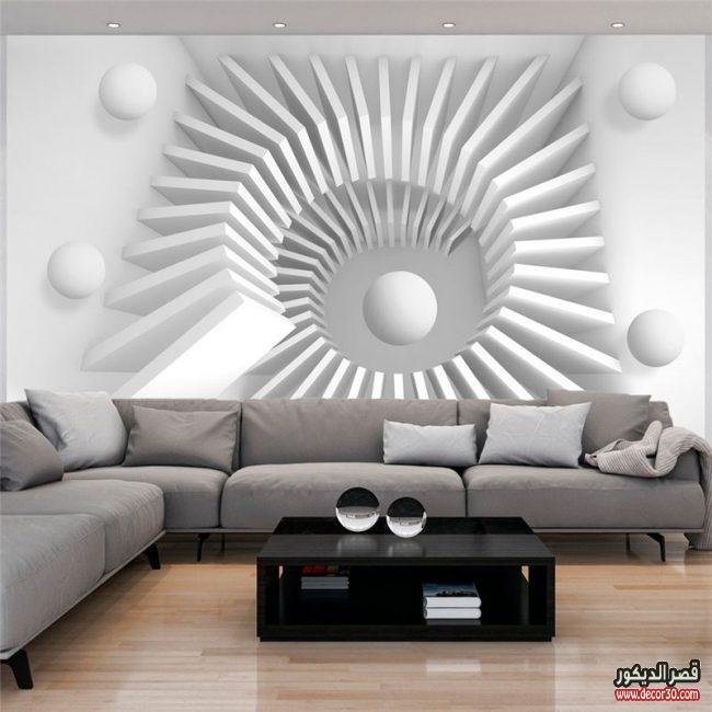 ديكورات ورق جدران ثلاثي الابعاد مودرن