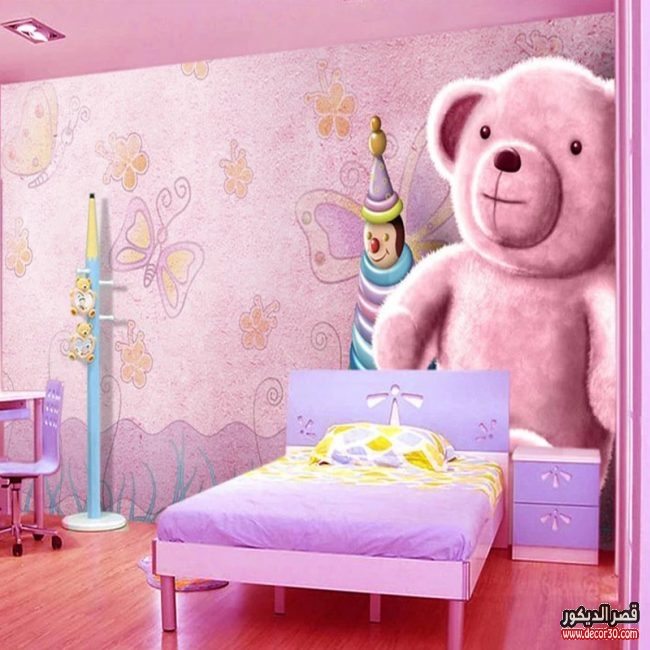 ورق حائط ثلاثي الابعاد لغرف الاطفال قصر الديكور