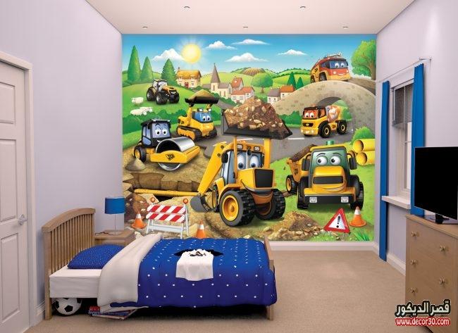 تصاميم ورق حوائط غرف أطفال