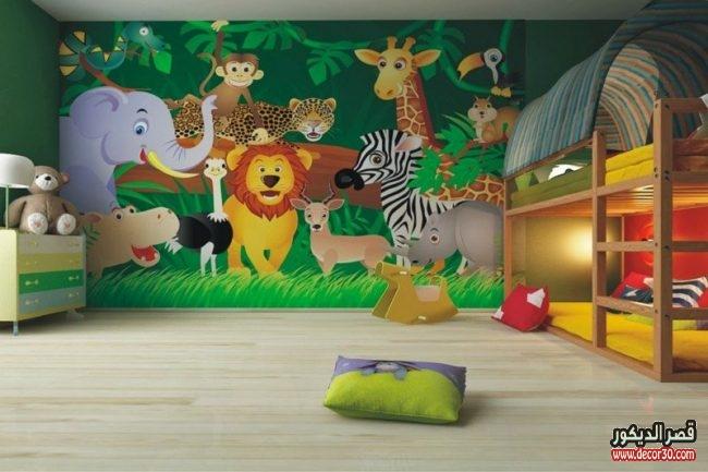 ورق حائط ثلاثي الابعاد لغرف الاطفال