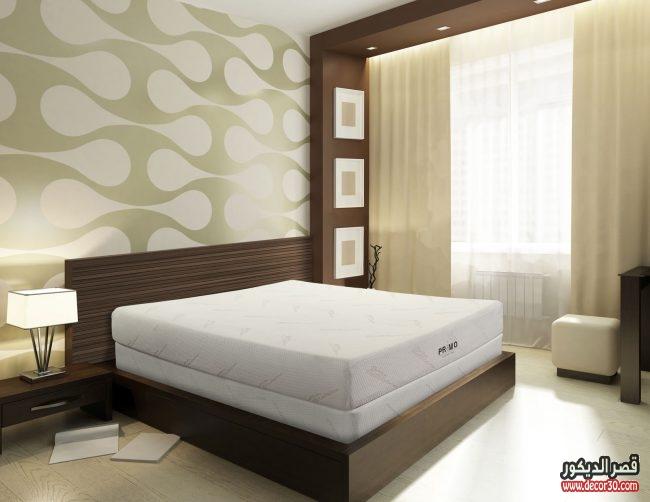 ديكورات ورق حوائط غرف نوم
