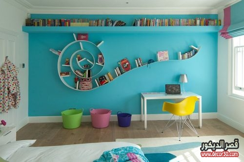 Fabulous-Bookworm-bookshelf-in-the-modern-kids-room
