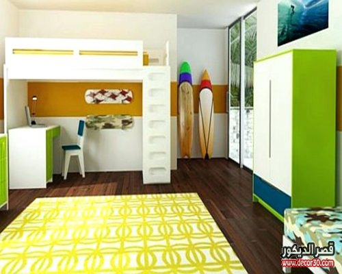 fantastic-interior-for-kids-bedroom-decorating-ideas-classy-with-yellow-