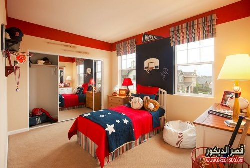 sports-baseball-themed-kids-bedroom-decor-patriotic-accent-bed-blanket-