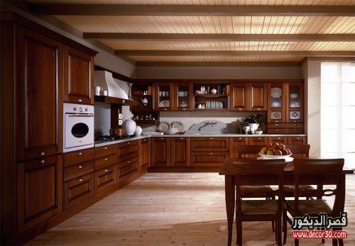 احدث المطابخ الخشب المصرية