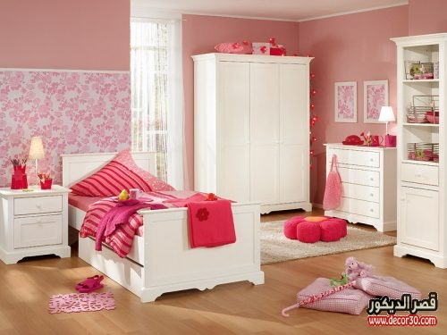 افكار لتزيين الغرف بنات