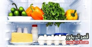 ترتيب الخضار في الثلاجة