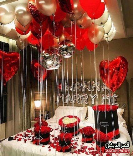 تزيين غرفة النوم لليلة رومانسية