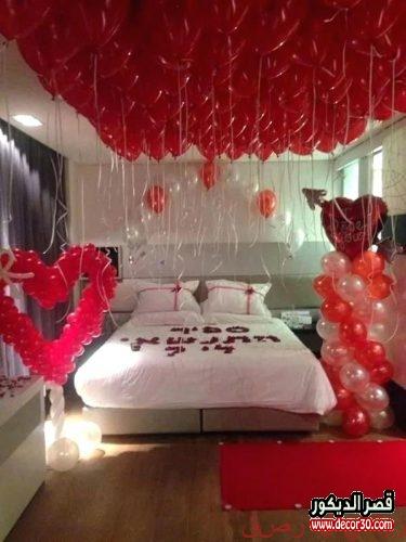 تزيين غرف النوم بالبالونات