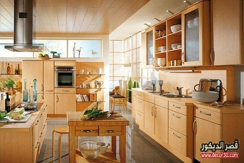 تنظيف المطبخ الخشب من الدهون