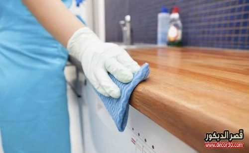 كيفية تنظيف الخشب