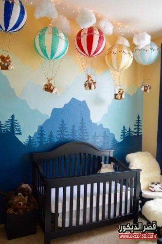 ديكورات ودهانات حديثة لغرف الاطفال