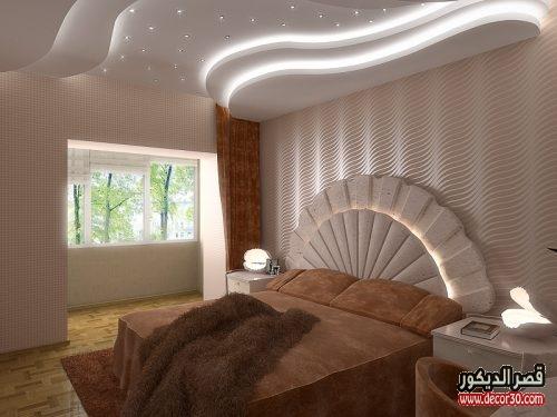 صور ديكورات جبسية لغرف النوم