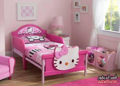 غرف نوم اطفال علي شكل كيتي