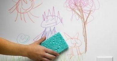 طريقة تنظيف الحوائط من الحبر